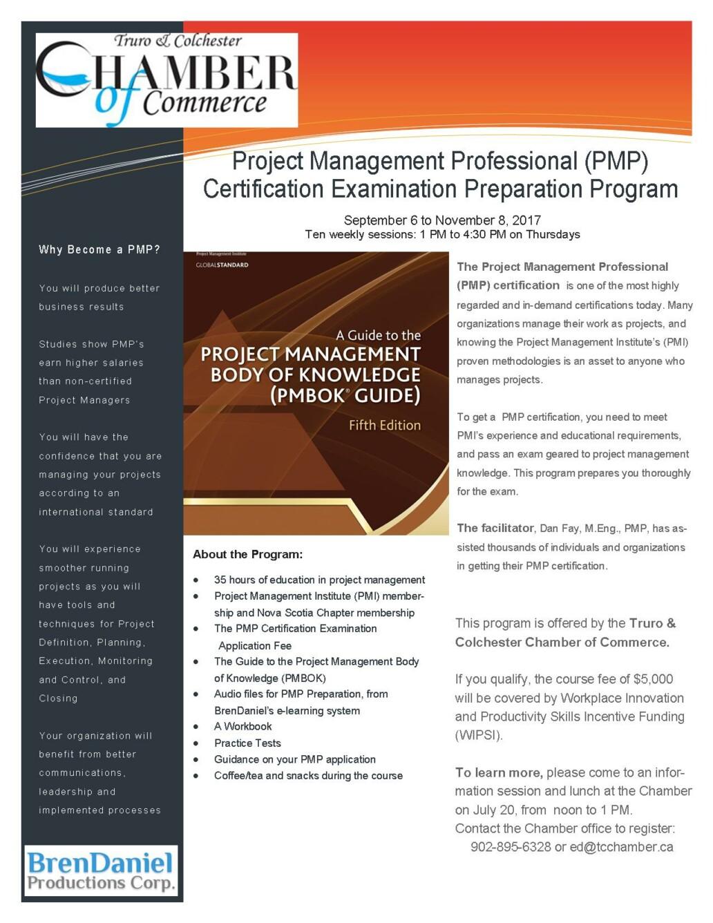 Chamber Hosting Project Management Professional Training Program